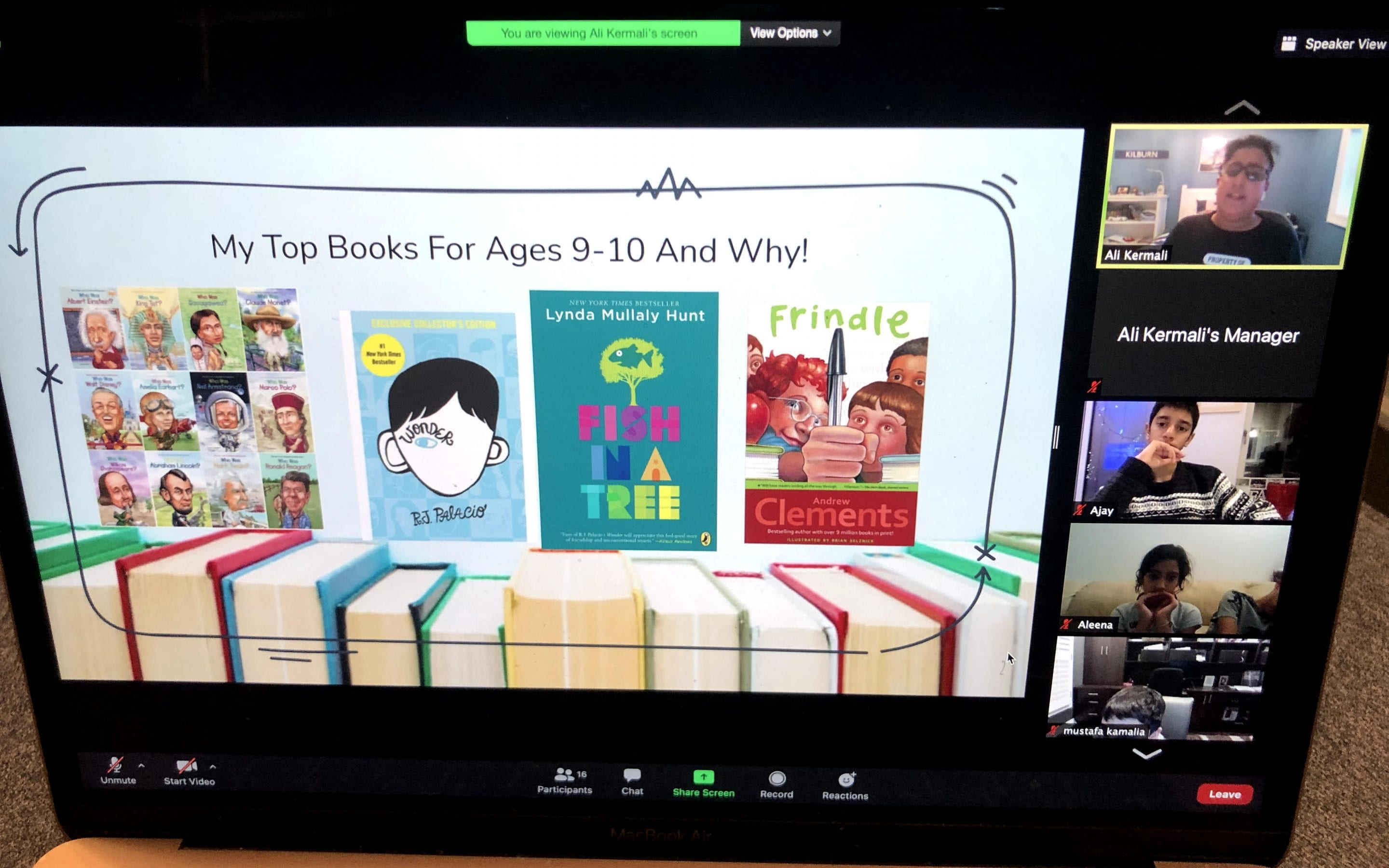 Read with Ali!: A book talk for kids, by a kid