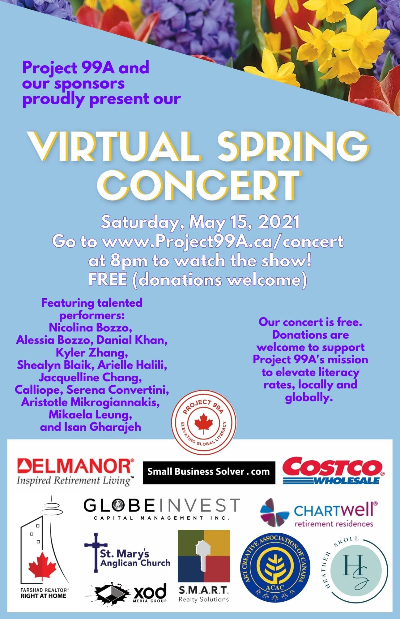 Project 99A's Virtual Spring Concert